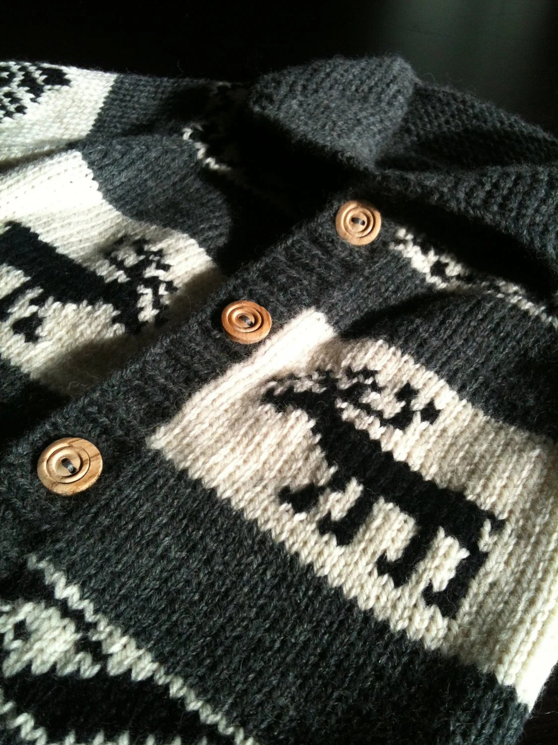 Custom Order for mistyhillard Wool Cowichan Style Sweater