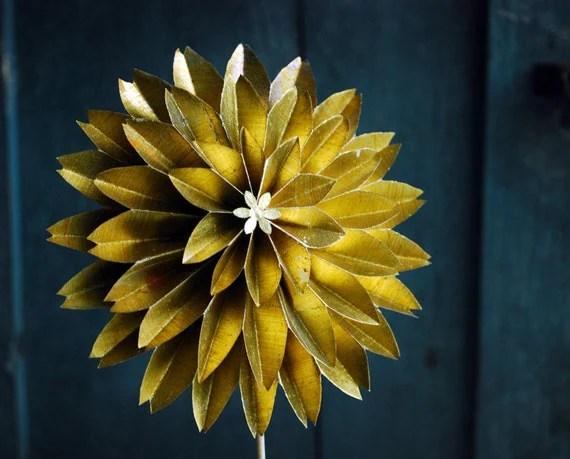 Items Similar To Paper Flower, Golden Wedding Anniversary
