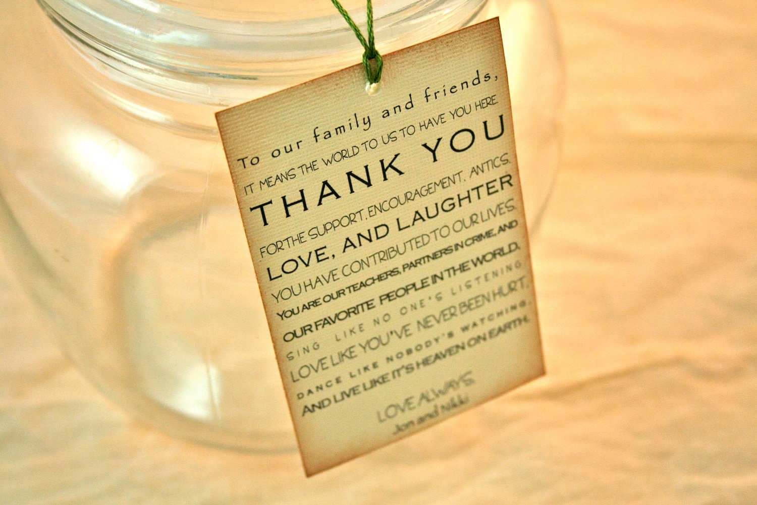 Weddings Favors Paper Goods Vintage Favor Tags Thank