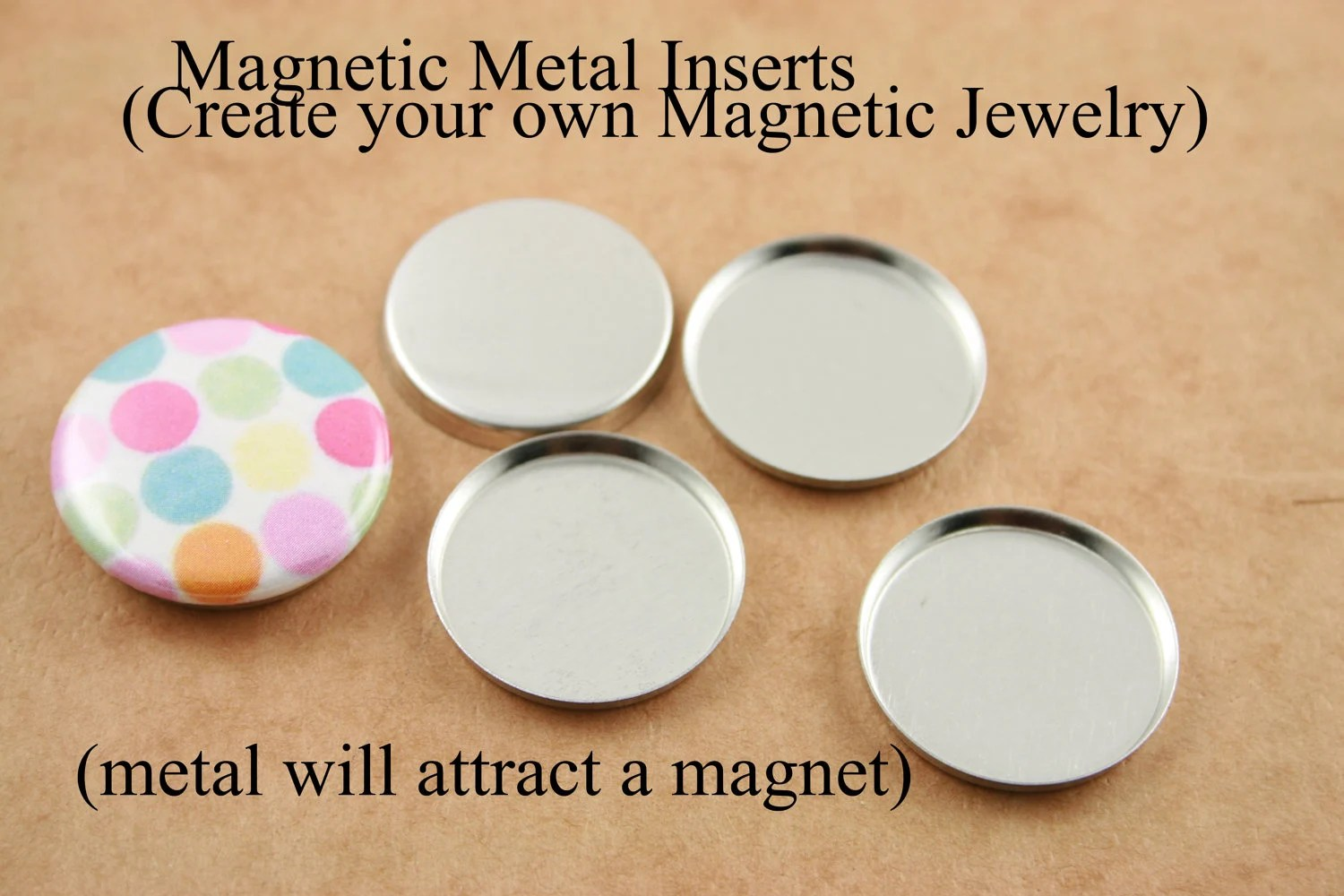 20 Diy Magnetic Metal Inserts For Use With Magnet Back