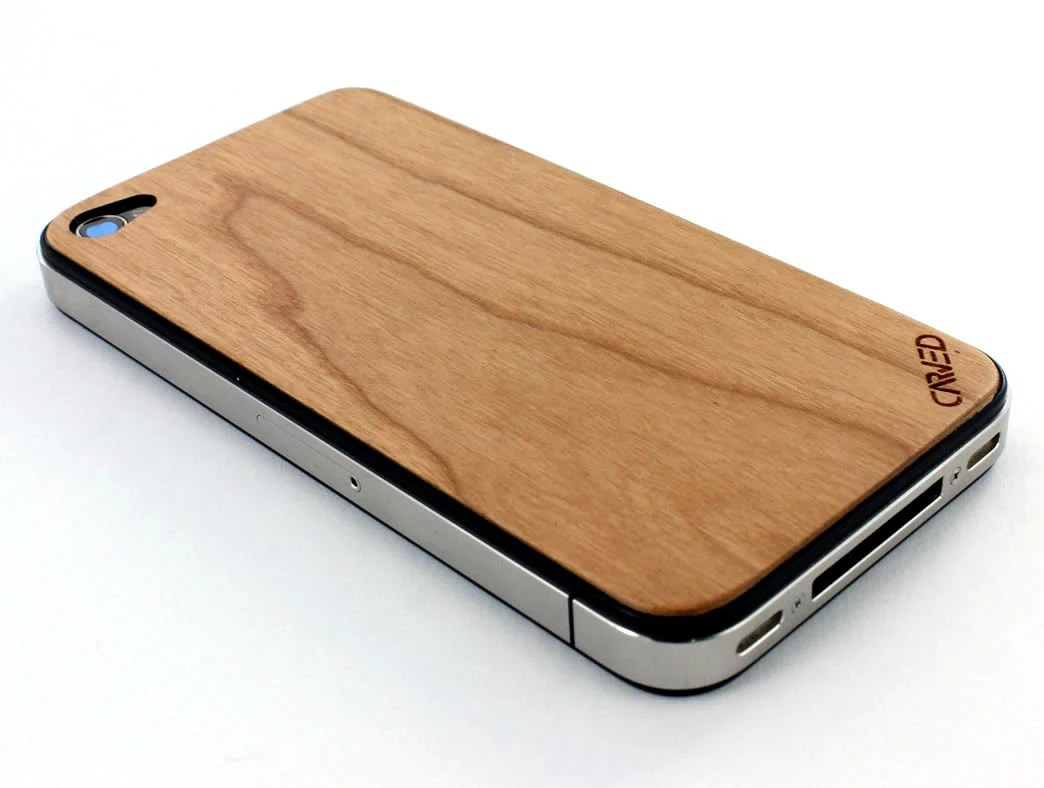 Cherry iPhone 4/4S Real Wood Skin (Front & Back Cover) Made in the USA - FREE Shipping - carvedproducts