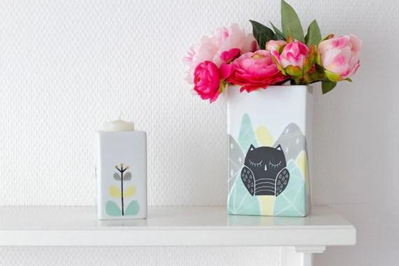 Flower candle holder