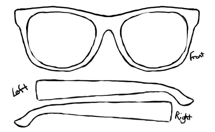 ray ban sunglasses template