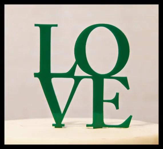 Wedding Cake Topper LOVE In Block Letters LOVE Wedding Cake