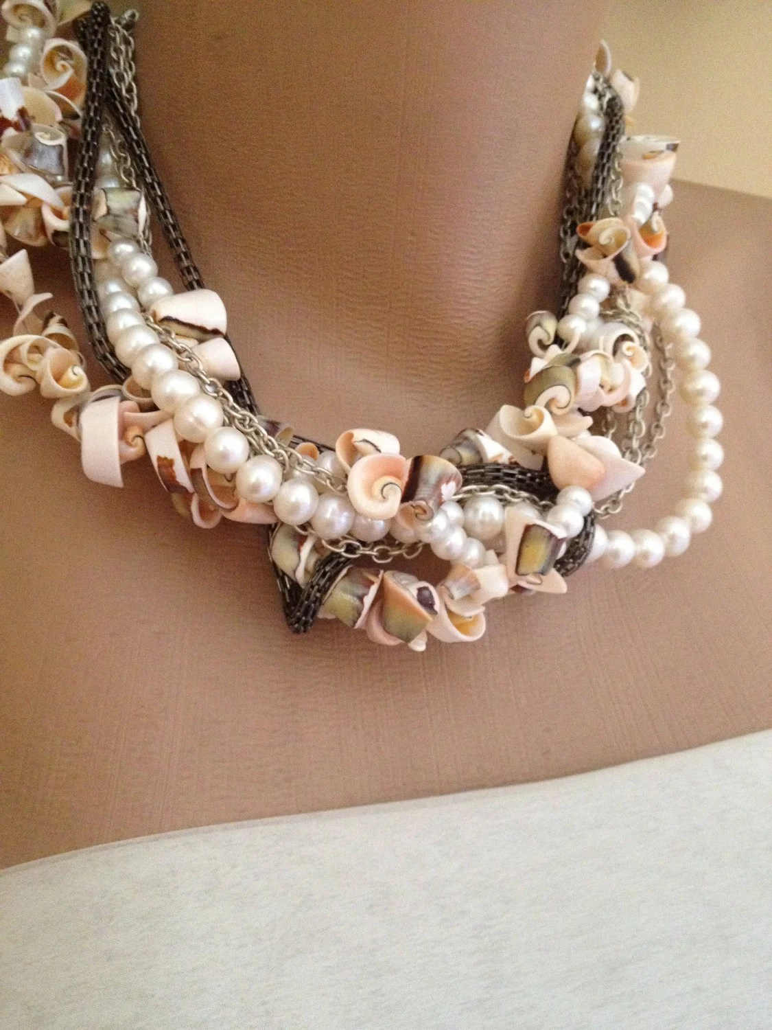 Items Similar To Handmade Sea Shell Necklace With