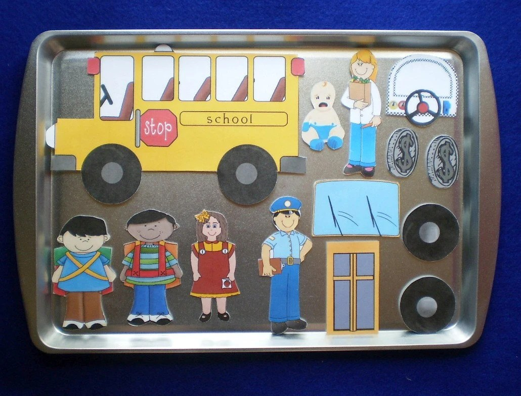 The Wheels On The Bus Magnetic Activity Teaching By
