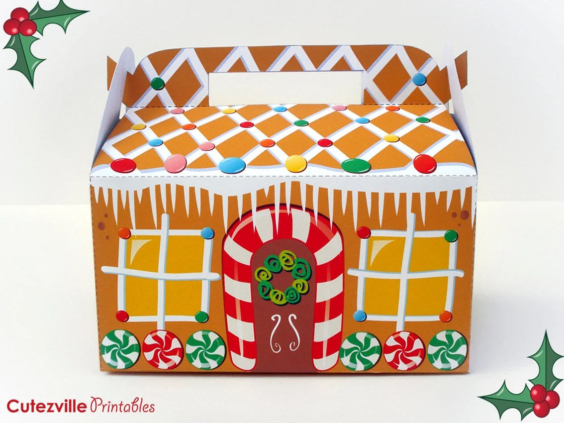 Printable Christmas Gingerbread House By