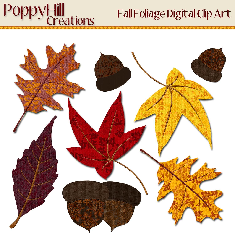 Instant Download Printable Fall Foliage Digital Clip Art