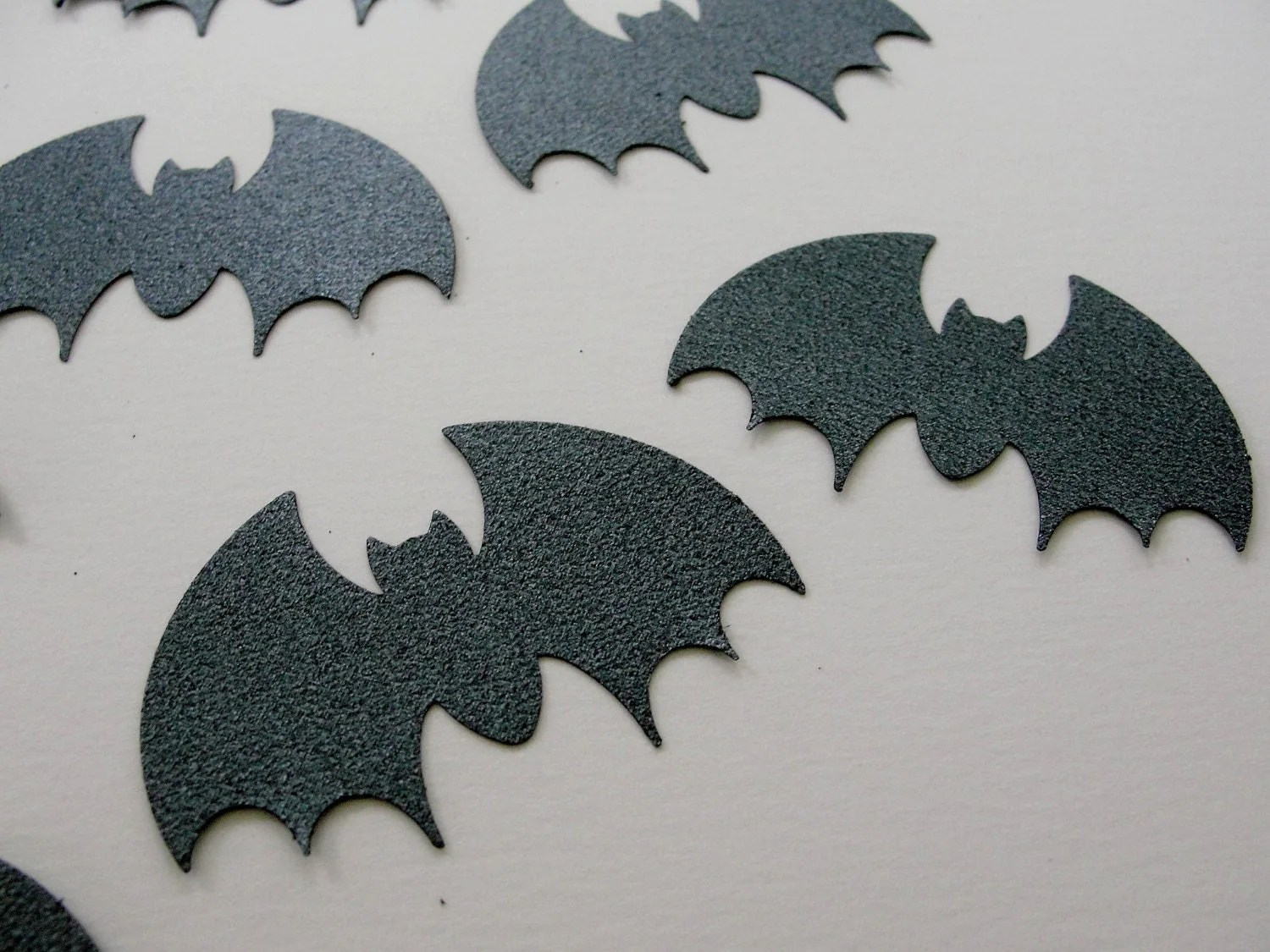 Glitter Steel Gray Black Bat Halloween Cut Outs Bat Halloween