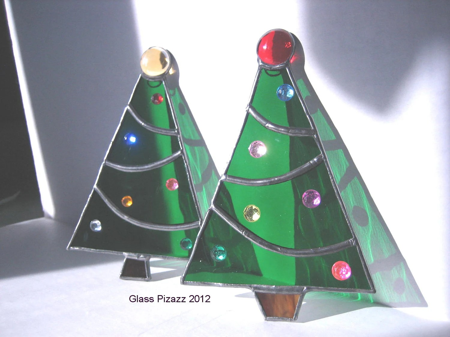 Christmas Tree Stained Glass Ornament Tiffany Style Ornament