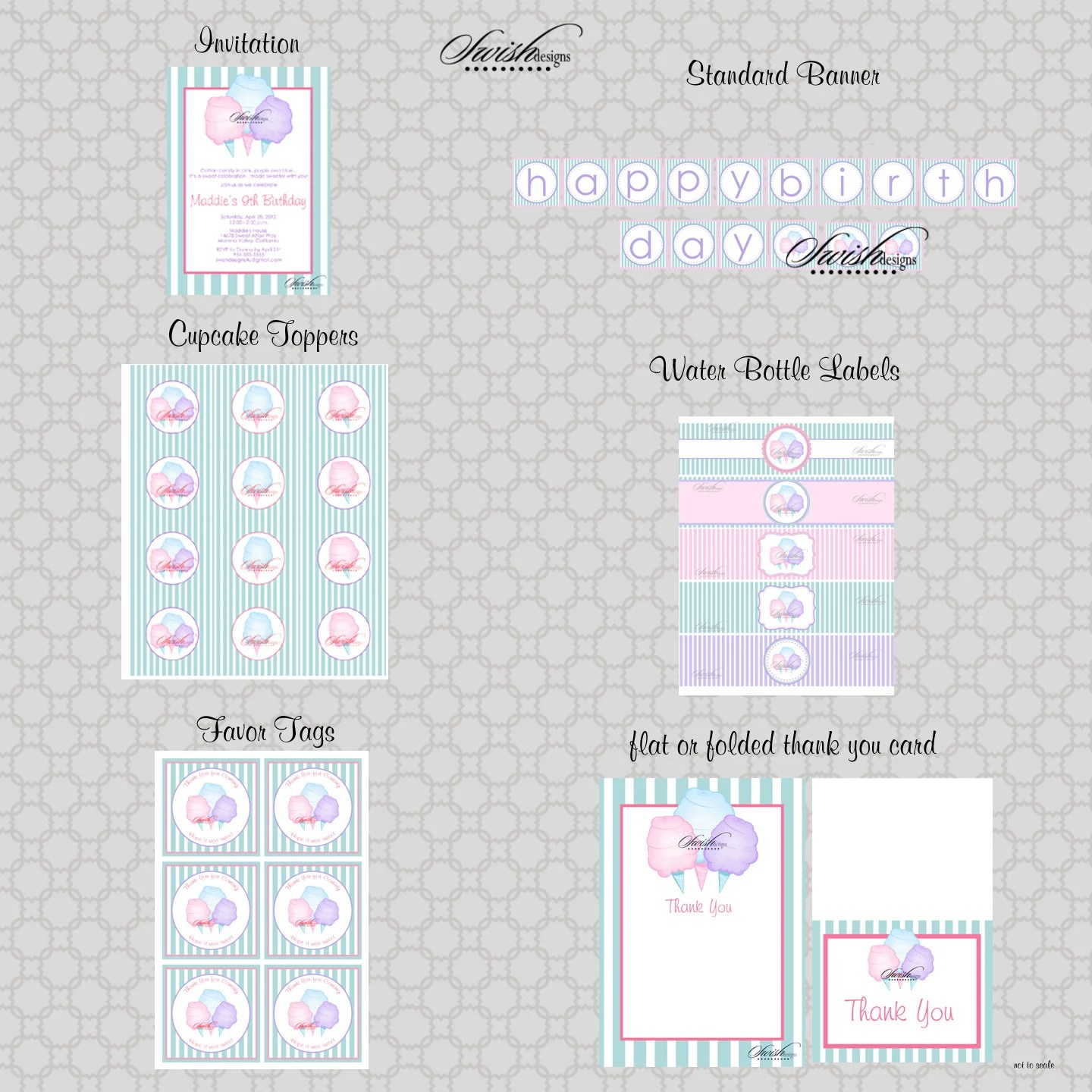 Cotton Candy Birthday Party Printable Diy By Swishprintables