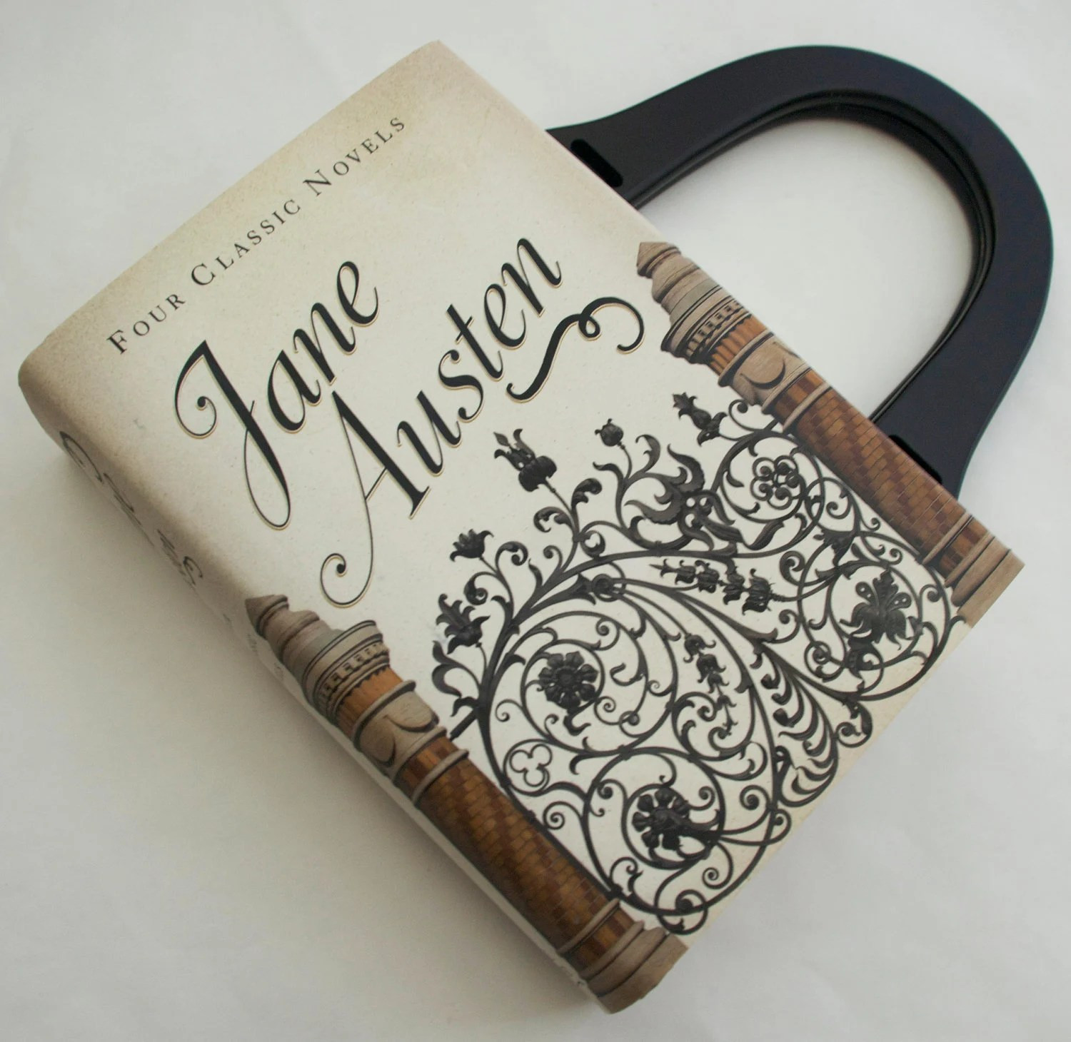Jane Austen Book Purse - Your Choice of Handle - PREORDER