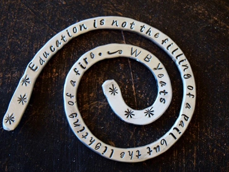 Education... is the Lighting of a Fire- Quoted Bookmark, WB Yeats Quoted Bookmark, Custom Bookmark
