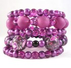 Teen Jewelry Purple Bracelet Wrapped Bracelet Stacked Bracelet Plum Jewelry - foreverandrea