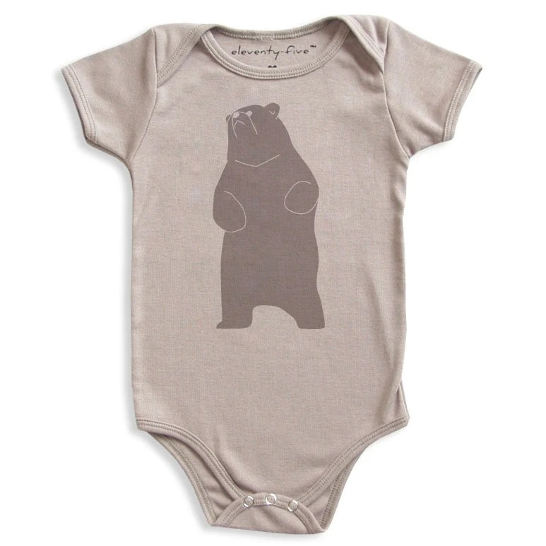 Be the Bear Organic Printed Baby Bodysuit 3-6m, 6-12m, 12-18m