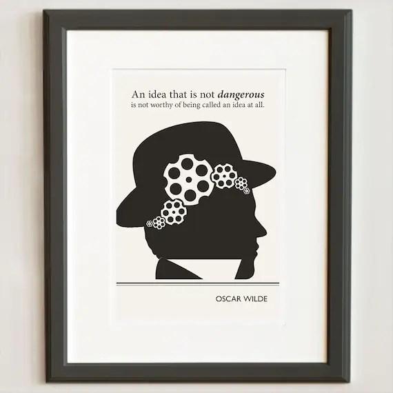 Original Illustration, Oscar Wilde quotation - Fine Art Prints - Art Posters - Literature inspired art - Dorm Decor