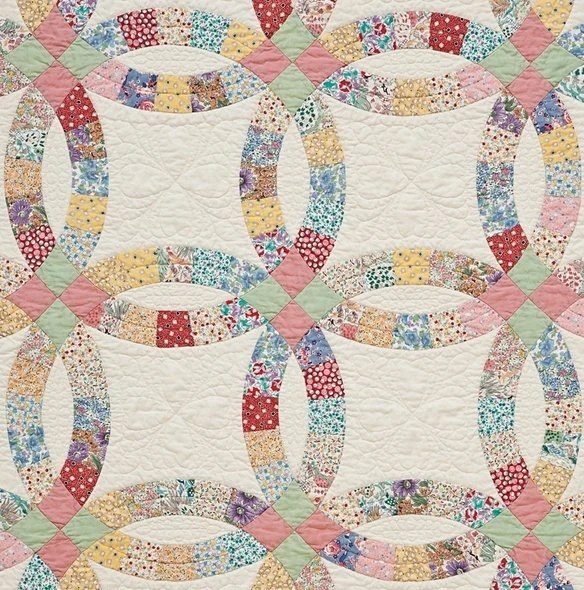 Double Wedding Ring PRECUT Quilt Kit 1930s By