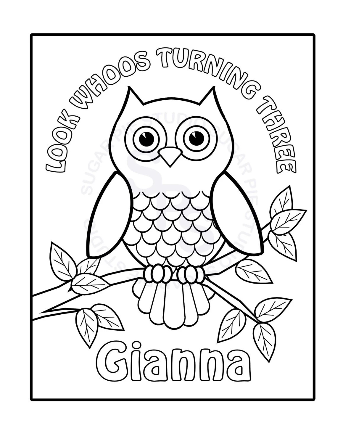 personalized printable owl birthday party favor by sugarpiestudio