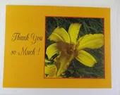 flower photo  thank you note card-set of six - jewelryandmorebykat