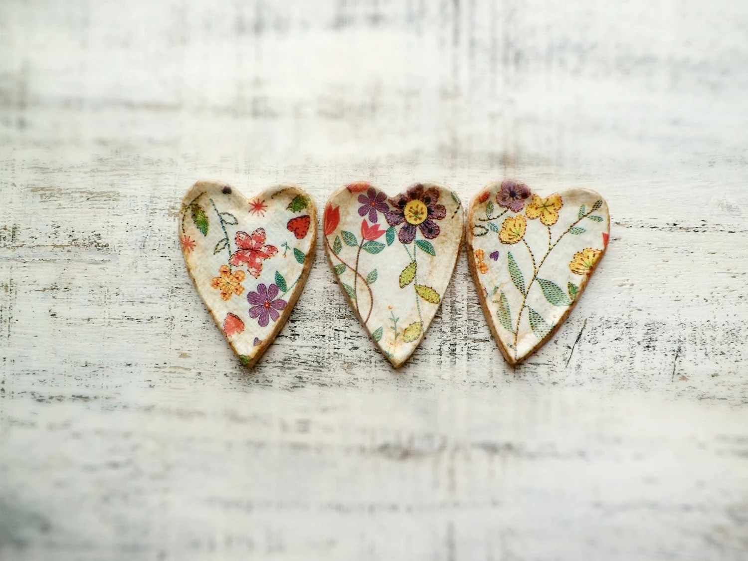 Heart magnet shabby chic cottage chic rustic home decor - HandyHappyHearts