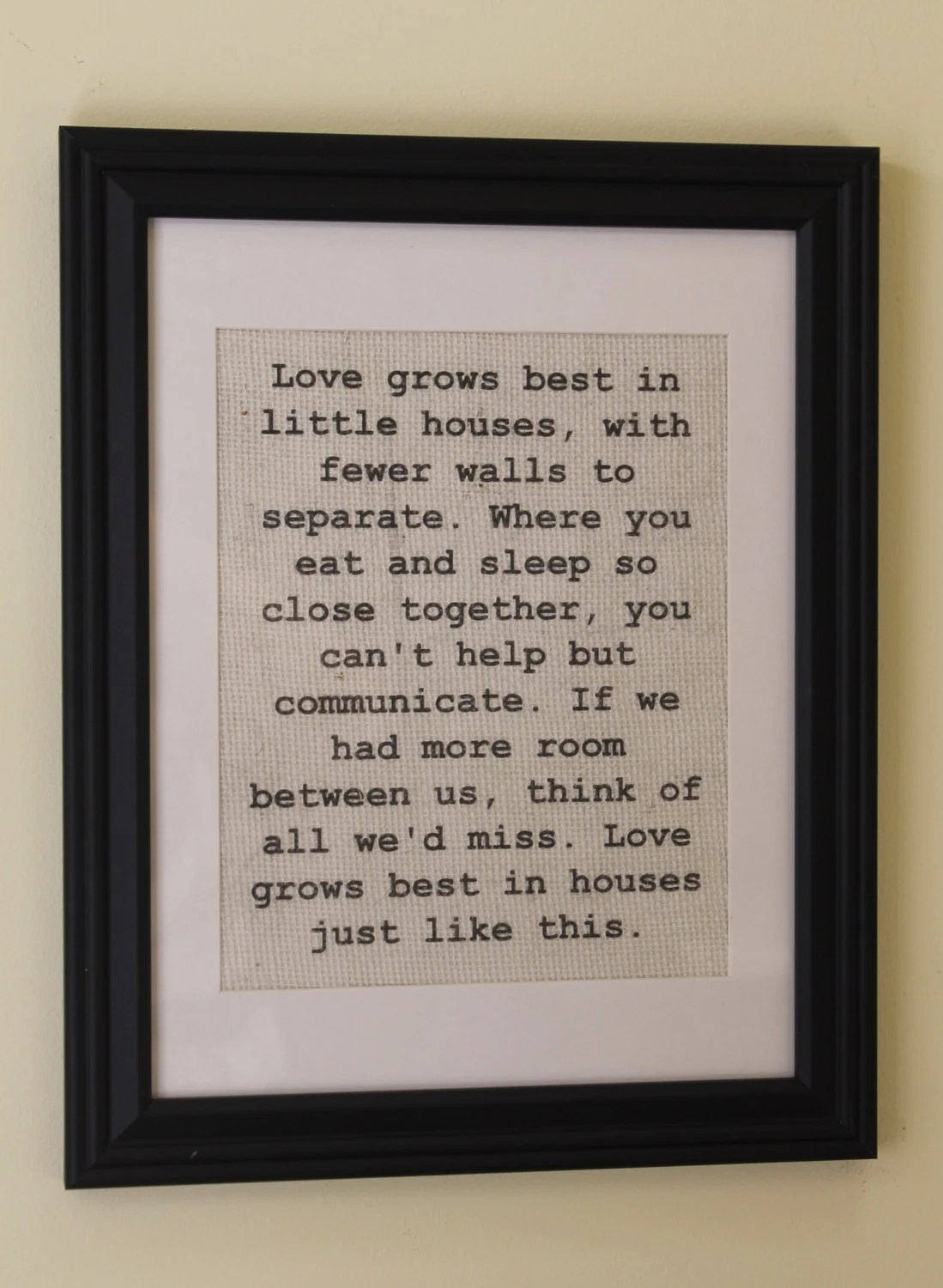 Download Love Grows Best in Little Houses Burlap by MagnoliaMommyMade