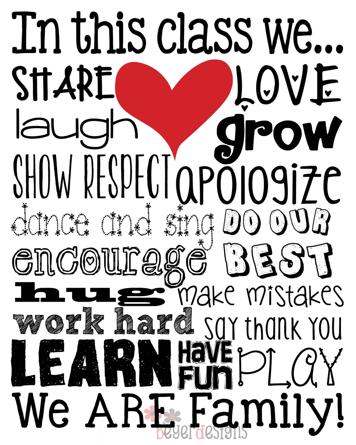 Great Classroom Printable Wall Art In This Class By