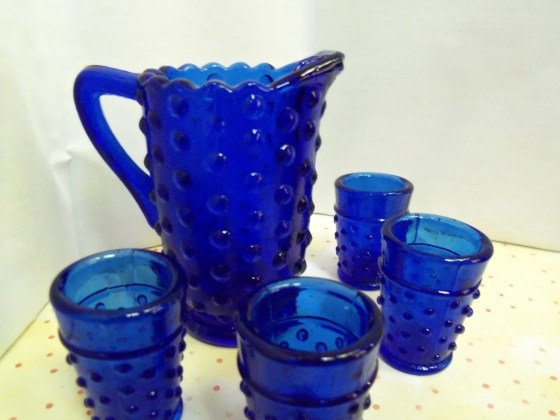 Cobalt Blue Hobnail