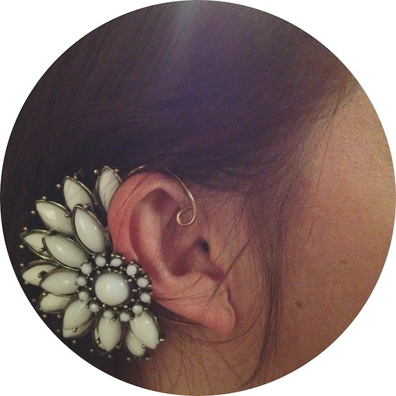 Winter land ear cuff