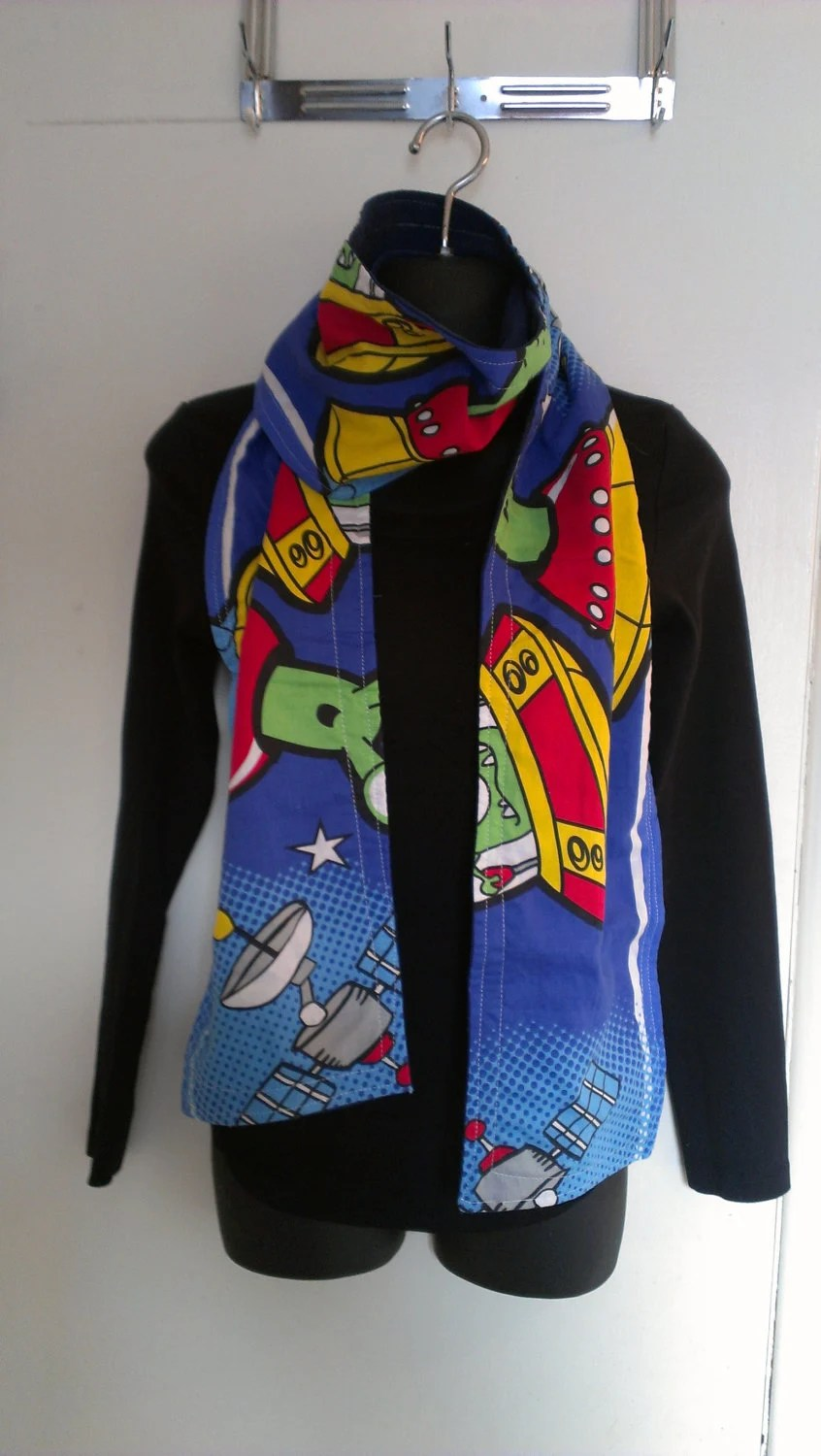 spaceship awesome upcycled scarf
