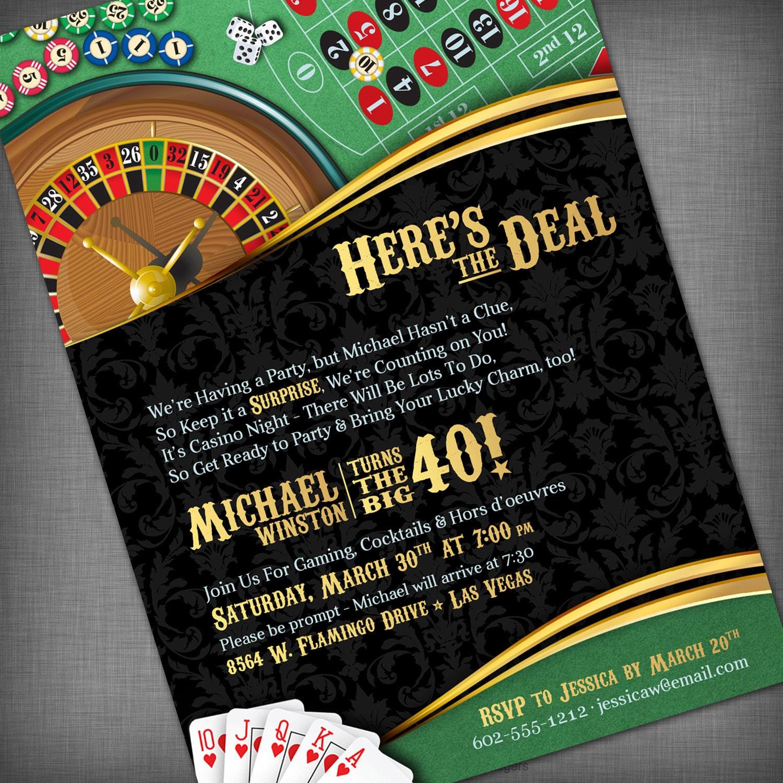 casino theme invitation free custom invitation template design verrado drift