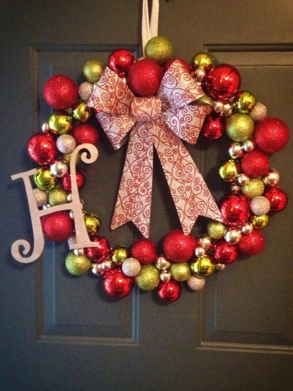 Personalized Christmas Ornament Wreath - cmachell12