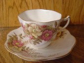 Rosina Queens English Bone China Tea Cup and Saucer 499A from an EtsyMom - ElsieBees