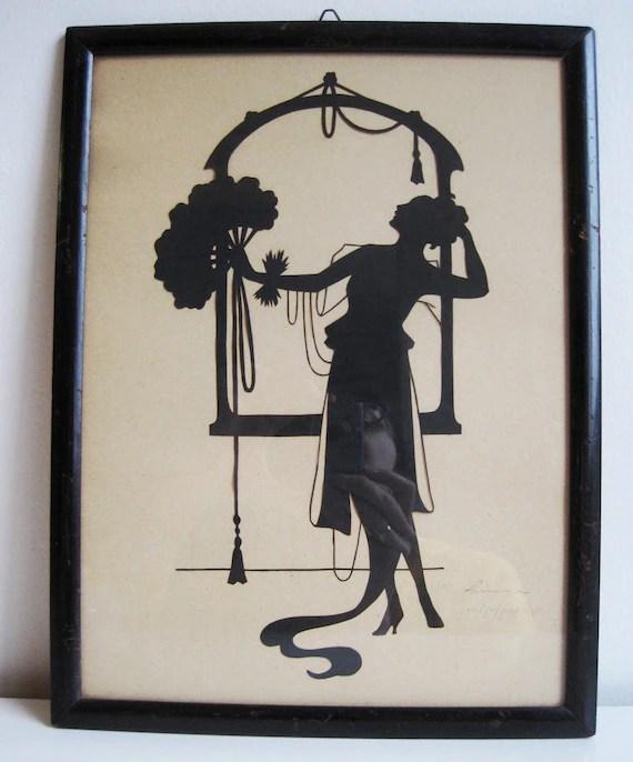 Vintage Art Deco Silhouette 1920s