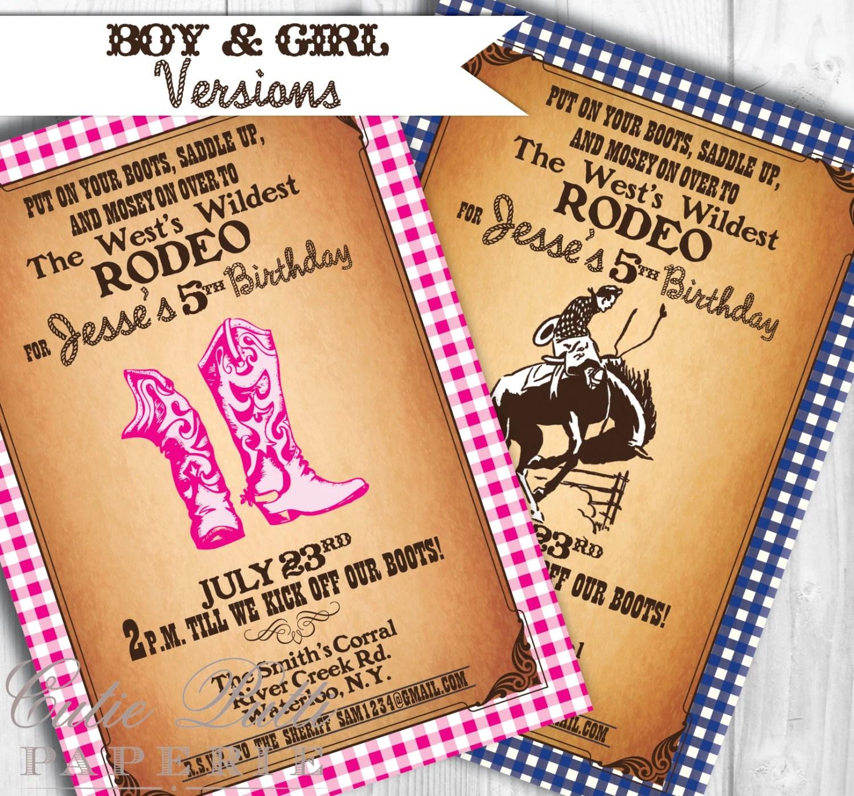 Western Invitations Printable Custom Invitations By Cutie