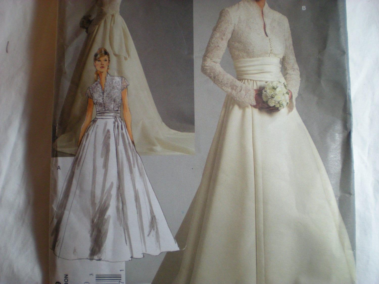 Vintage Look Wedding Dress Vogue Pattern 2979 Sizes 18-20-22