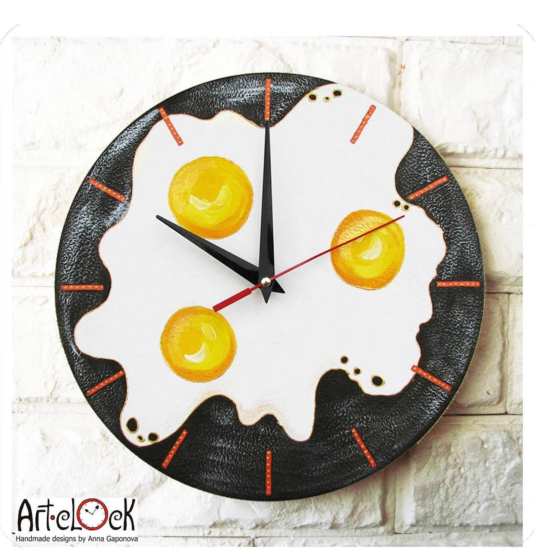 The Omelet Wall Clock, Kitchen Decor - ArtClock