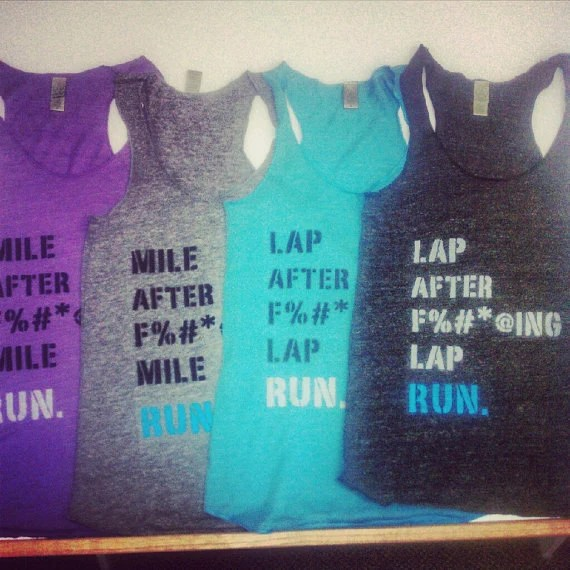 Sample Sale: Lap After Freaking Lap Tank in Light Blue - Size S