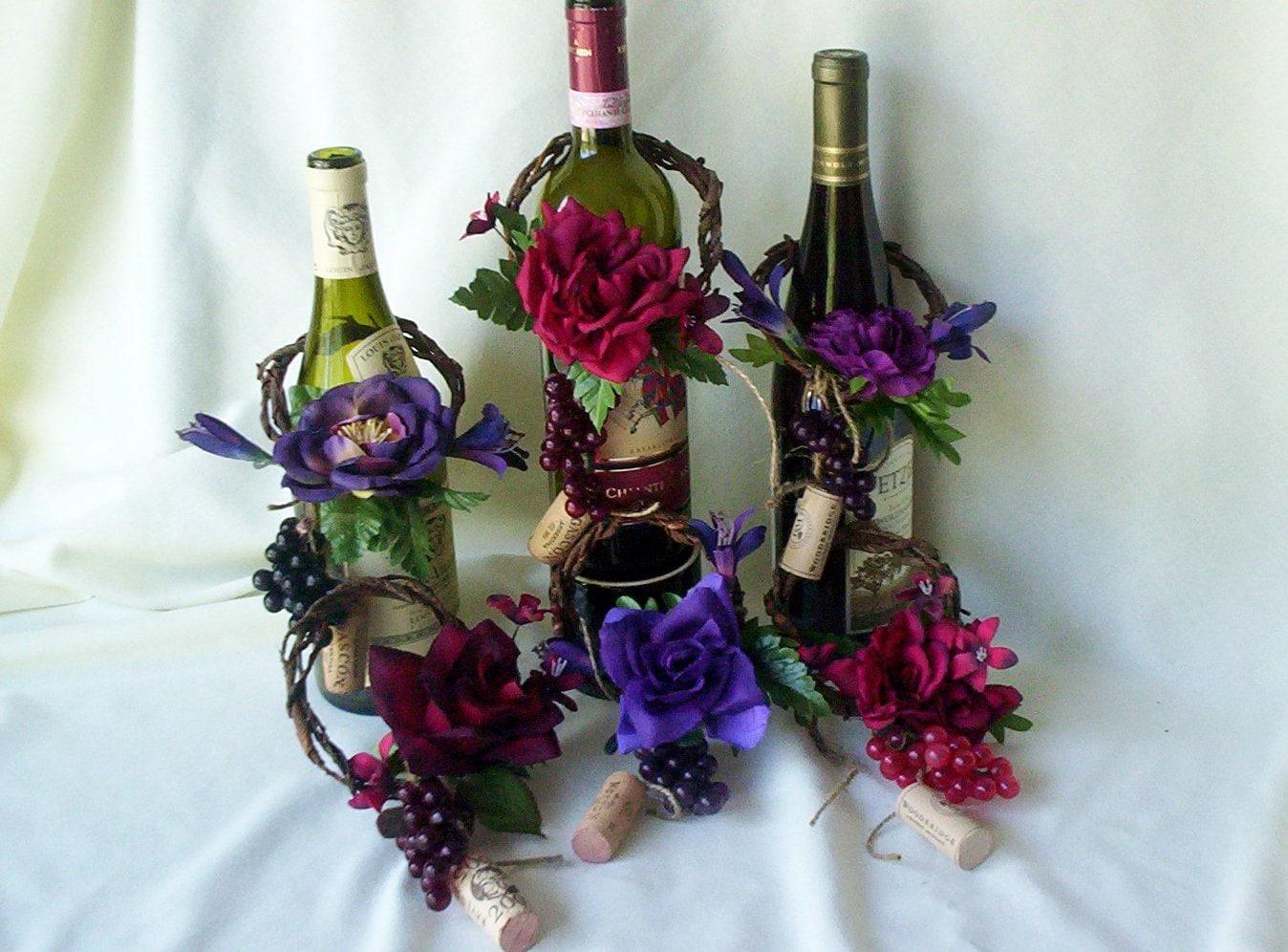 Wedding Centerpieces AmoreBride Wine Bottle Toppers Set Of 4