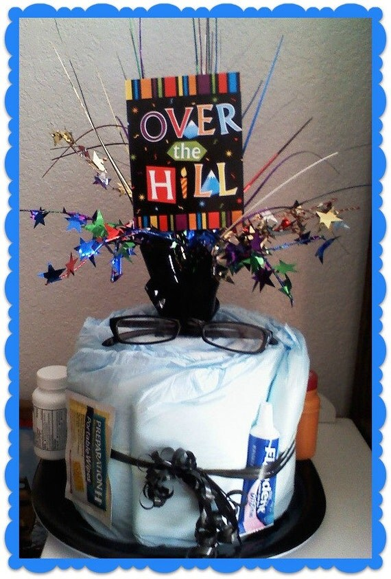 Items Similar To Over The Hill Gag Gift Birthday