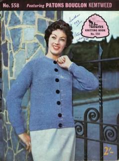 Vintage 1950s Knit Pattern Book - 'Patons'