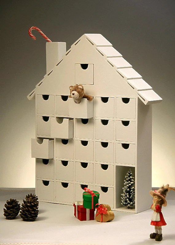 ON SALE Wooden Advent Calendar DIY Fast Shipping To The
