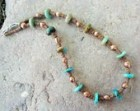 SALE, Natural Turquoise, African Brass & Copper Choker