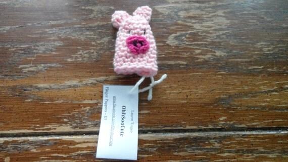 Pink Piggy Finger Puppet