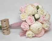 wedding bouquet, paper flower bouquet, bridesmaids bouquets, bridal bouquets, wedding flowers, paper flowers - FlowerDecoration