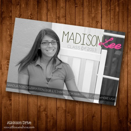 Printable Photo Graduation Party Invitation