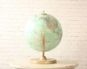 Vintage Antique Repogle World Ocean Series Raised Relief World Map Globe - BankandPearl