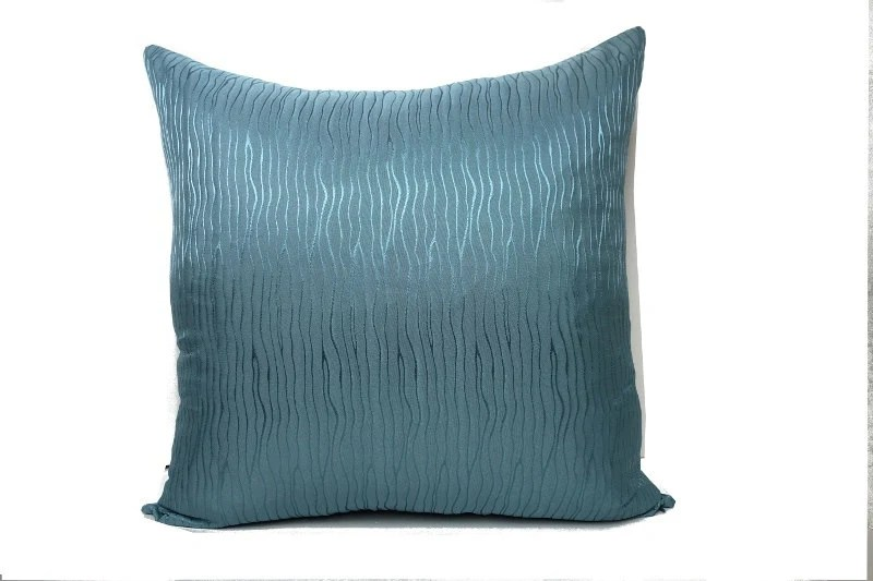 Turquoise pillow, turquoise throw - JoJosArtisticDesign