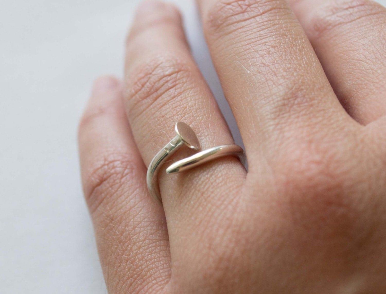 Nail Ring Sterling Silver Silver Nail Ring