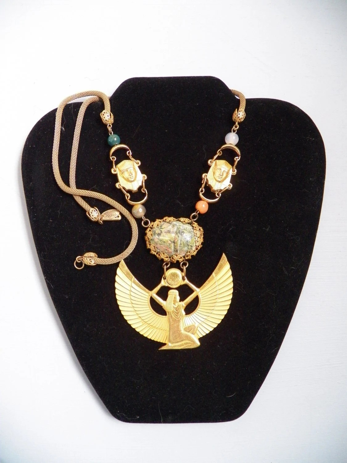 Items Similar To Vintage Signed Miriam Haskell 9k Gilt