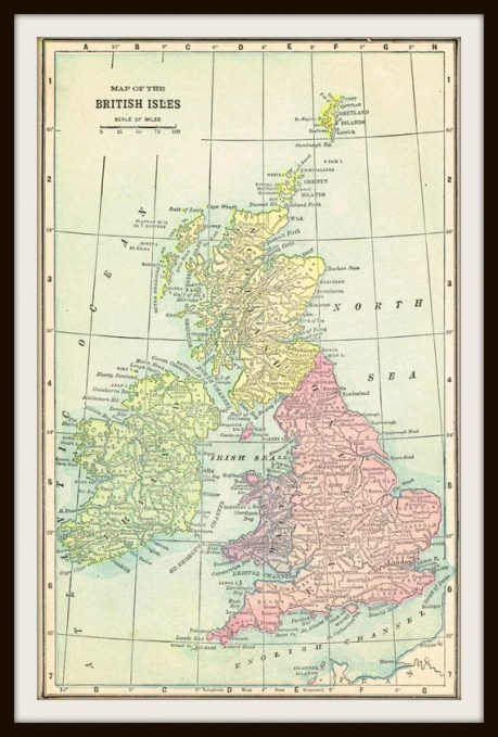 Antique Map  - BRITISH ISLES 1904 Map Page - Buy 3 Maps, Get 1 Free